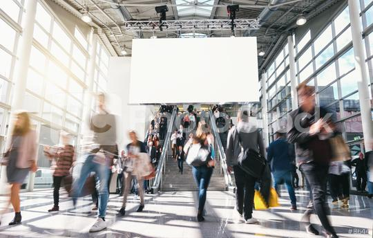 crowd of anonymous blurred business people at a trade fair  : Stock Photo or Stock Video Download rcfotostock photos, images and assets rcfotostock | RC-Photo-Stock.:
