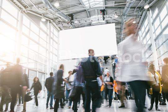 crowd of anonymous blurred business people at a tradeshow  : Stock Photo or Stock Video Download rcfotostock photos, images and assets rcfotostock | RC-Photo-Stock.: