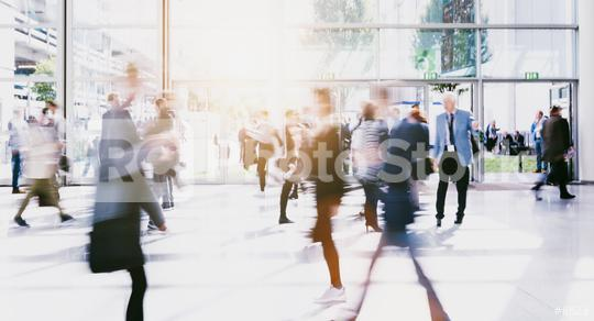 crowd of anonymous blurred people at a trade fair corridor  : Stock Photo or Stock Video Download rcfotostock photos, images and assets rcfotostock | RC-Photo-Stock.: