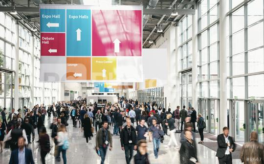 Crowd of anonymous Business people walking at a trade fair  : Stock Photo or Stock Video Download rcfotostock photos, images and assets rcfotostock | RC-Photo-Stock.: