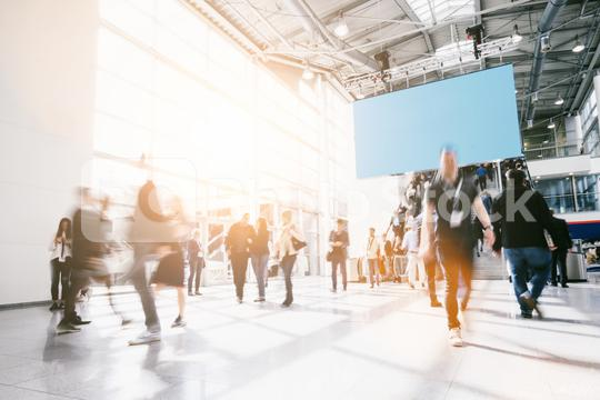 crowd of anonymous people at a trade show  : Stock Photo or Stock Video Download rcfotostock photos, images and assets rcfotostock | RC-Photo-Stock.: