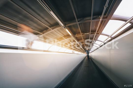 Crowd of anonymous people rushing in tunnel at a trade show  : Stock Photo or Stock Video Download rcfotostock photos, images and assets rcfotostock | RC-Photo-Stock.: