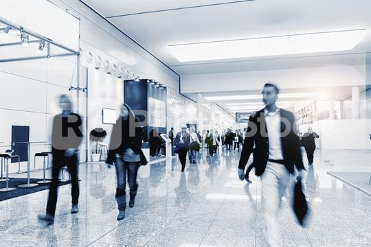 Crowd of anonymous people walking on a trade show  : Stock Photo or Stock Video Download rcfotostock photos, images and assets rcfotostock | RC-Photo-Stock.: