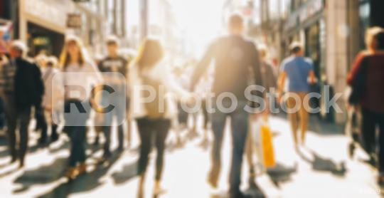crowd of people in a shopping street, defocused background  : Stock Photo or Stock Video Download rcfotostock photos, images and assets rcfotostock | RC-Photo-Stock.: