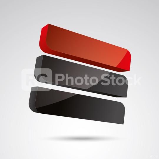 cube frames 3d vector icon as logo formation in black and red glossy colors, Corporate design. Vector illustration. Eps 10 vector file.  : Stock Photo or Stock Video Download rcfotostock photos, images and assets rcfotostock | RC-Photo-Stock.: