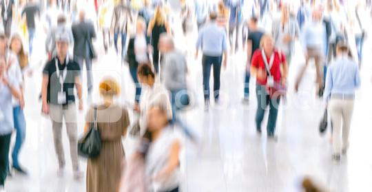 Defocused Crowd of people walking at a trade fair  : Stock Photo or Stock Video Download rcfotostock photos, images and assets rcfotostock | RC-Photo-Stock.: