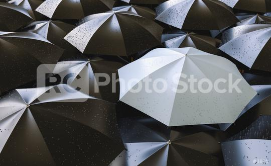 Different, unique and standing out of the crowd gray umbrella with rain drops  : Stock Photo or Stock Video Download rcfotostock photos, images and assets rcfotostock   RC-Photo-Stock.: