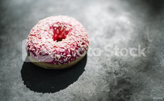 donut with pink glazed and sprinkles  : Stock Photo or Stock Video Download rcfotostock photos, images and assets rcfotostock   RC-Photo-Stock.: