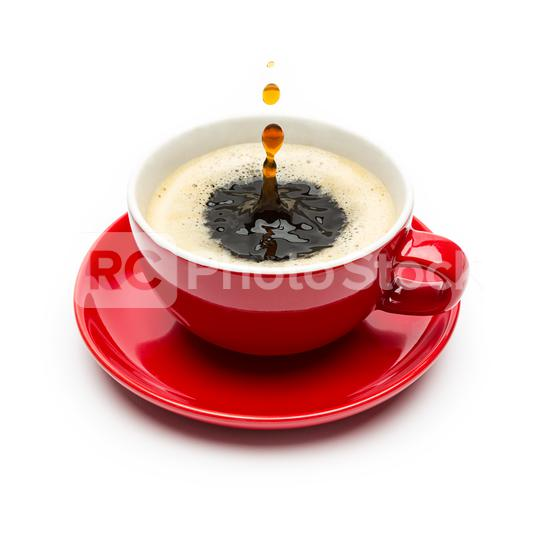Drops falling into a cup of coffee  : Stock Photo or Stock Video Download rcfotostock photos, images and assets rcfotostock | RC-Photo-Stock.:
