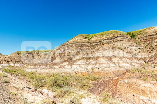 Drumheller valley in summer at alberta Canada  : Stock Photo or Stock Video Download rcfotostock photos, images and assets rcfotostock   RC-Photo-Stock.: