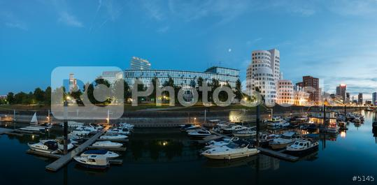 Dusseldorf media harbor panorama  : Stock Photo or Stock Video Download rcfotostock photos, images and assets rcfotostock | RC-Photo-Stock.: