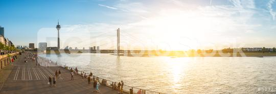 Dusseldorf rhine shore panorama  : Stock Photo or Stock Video Download rcfotostock photos, images and assets rcfotostock | RC-Photo-Stock.: