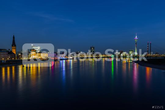 Dusseldorf skyline at night  : Stock Photo or Stock Video Download rcfotostock photos, images and assets rcfotostock   RC-Photo-Stock.: