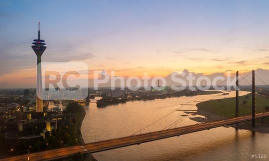 Dusseldorf Skyline view at Sunset  : Stock Photo or Stock Video Download rcfotostock photos, images and assets rcfotostock | RC-Photo-Stock.: