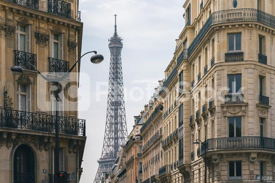Eiffel Tower view at the old town of Paris  : Stock Photo or Stock Video Download rcfotostock photos, images and assets rcfotostock | RC-Photo-Stock.: