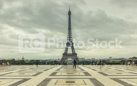 Eiffel Tower view from the Trocadero square (Place du Trocadero). Paris, France  : Stock Photo or Stock Video Download rcfotostock photos, images and assets rcfotostock | RC-Photo-Stock.: