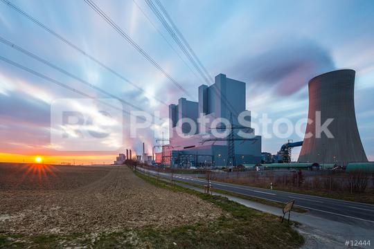 electricity Coal-fired power plant at sunset   : Stock Photo or Stock Video Download rcfotostock photos, images and assets rcfotostock | RC-Photo-Stock.: