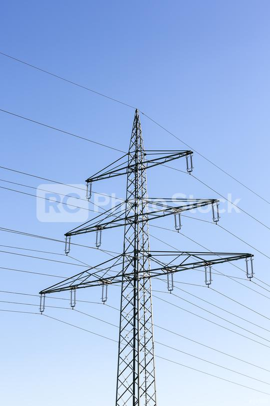 Electricity pylon power pole high voltage against blue sky  : Stock Photo or Stock Video Download rcfotostock photos, images and assets rcfotostock   RC-Photo-Stock.: