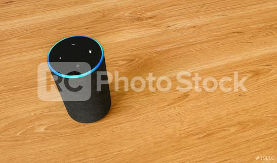Electronic equipment smart speaker on a table  : Stock Photo or Stock Video Download rcfotostock photos, images and assets rcfotostock | RC-Photo-Stock.: