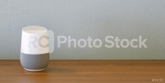 Electronic equipment smart speaker with copy space for individual text  : Stock Photo or Stock Video Download rcfotostock photos, images and assets rcfotostock | RC-Photo-Stock.:
