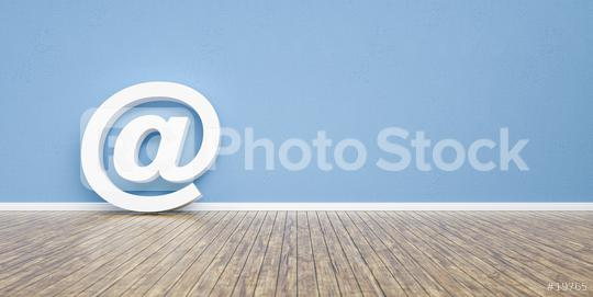 e-mail at symbol on a wall, including copy space - 3D rendering  : Stock Photo or Stock Video Download rcfotostock photos, images and assets rcfotostock | RC-Photo-Stock.: