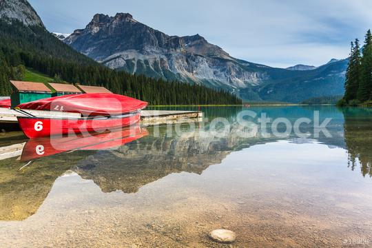emerald lake canoe rental at the Yoho National Park canada   : Stock Photo or Stock Video Download rcfotostock photos, images and assets rcfotostock | RC-Photo-Stock.: