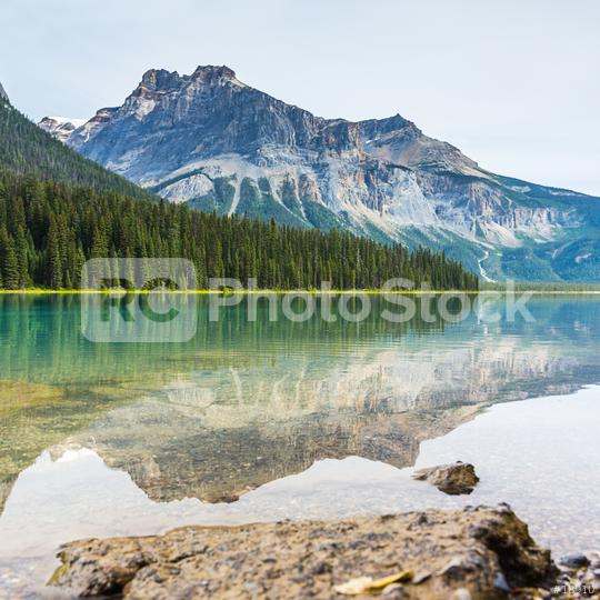 Emerald Lake Mountain Reflections from the rocky mountains canada  : Stock Photo or Stock Video Download rcfotostock photos, images and assets rcfotostock | RC-Photo-Stock.: