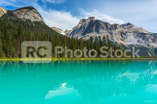 Emerald Lake with the rocky mountains in the  Yoho National Park Alberta canada  : Stock Photo or Stock Video Download rcfotostock photos, images and assets rcfotostock | RC-Photo-Stock.: