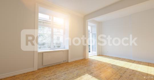 Empty bright white room in old building with balcony in london  : Stock Photo or Stock Video Download rcfotostock photos, images and assets rcfotostock | RC-Photo-Stock.: