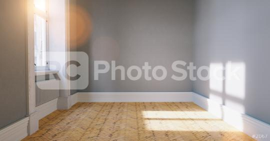 Empty room with parquet floor and white background wall   : Stock Photo or Stock Video Download rcfotostock photos, images and assets rcfotostock   RC-Photo-Stock.: