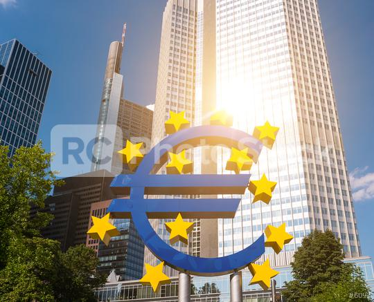 Euro sign at European Central Bank headquarters in Frankfurt am main, germany  : Stock Photo or Stock Video Download rcfotostock photos, images and assets rcfotostock | RC-Photo-Stock.: