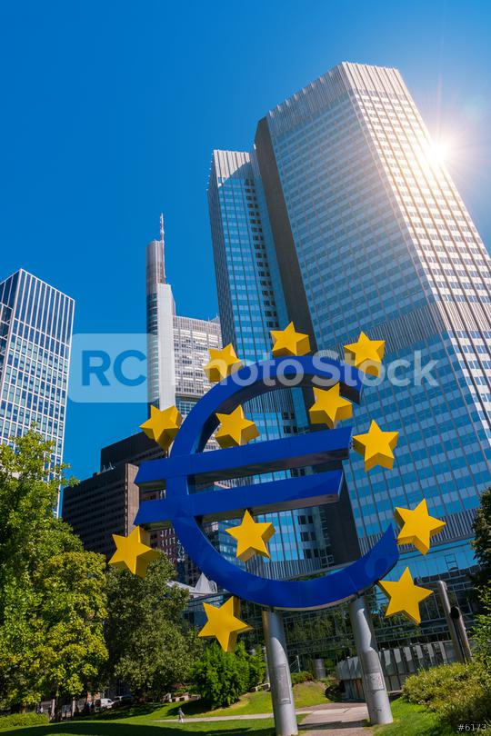 EURO sign in Frankfurt am Main  : Stock Photo or Stock Video Download rcfotostock photos, images and assets rcfotostock | RC-Photo-Stock.: