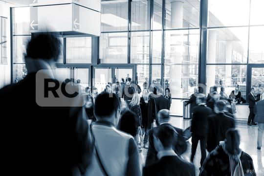 European Trade Fair visitors in a modern hall  : Stock Photo or Stock Video Download rcfotostock photos, images and assets rcfotostock | RC-Photo-Stock.: