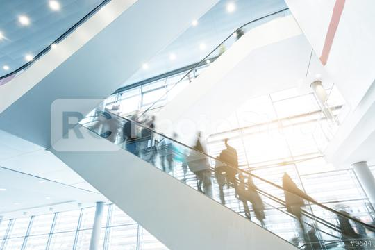 Exhibition escalators with blurred business people  : Stock Photo or Stock Video Download rcfotostock photos, images and assets rcfotostock | RC-Photo-Stock.: