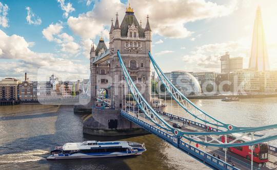 Famous Tower Bridge with red bus and city hall, London, UK  : Stock Photo or Stock Video Download rcfotostock photos, images and assets rcfotostock | RC-Photo-Stock.: