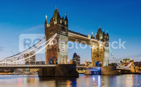 Financial District of London and the Tower Bridge at sunset, England.  : Stock Photo or Stock Video Download rcfotostock photos, images and assets rcfotostock | RC-Photo-Stock.:
