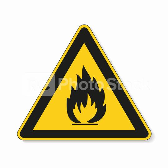 Flammable, inflammable substances warning attention sign. Safety signs, warning Sign or Danger symbol BGV warning Fire warning sign on white background. Vector illustration. Eps 10 vector file.  : Stock Photo or Stock Video Download rcfotostock photos, images and assets rcfotostock   RC-Photo-Stock.: