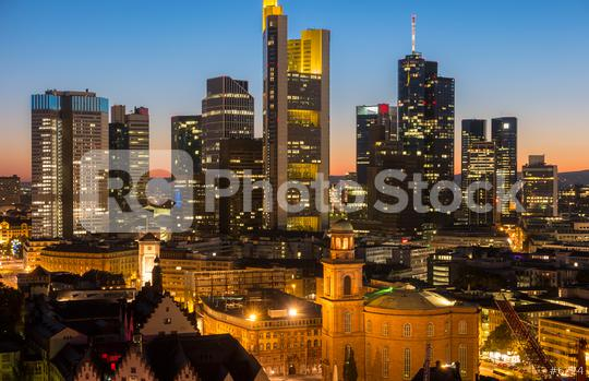 Frankfurt am Main at night Germany  : Stock Photo or Stock Video Download rcfotostock photos, images and assets rcfotostock | RC-Photo-Stock.: