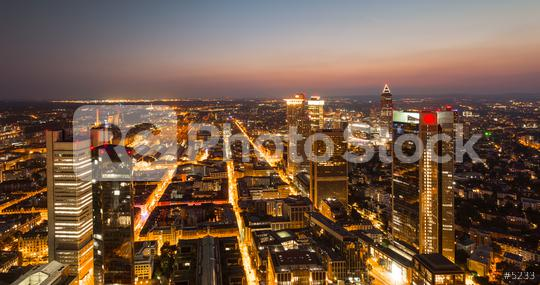 Frankfurt am main Financial district skyline at sunset  : Stock Photo or Stock Video Download rcfotostock photos, images and assets rcfotostock | RC-Photo-Stock.: