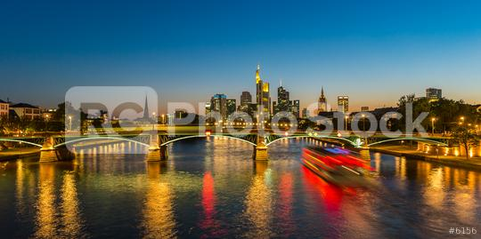 Frankfurt am Main Night Skyline at the blue hour  : Stock Photo or Stock Video Download rcfotostock photos, images and assets rcfotostock   RC-Photo-Stock.: