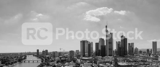 Frankfurt am Main panorama in black and white  : Stock Photo or Stock Video Download rcfotostock photos, images and assets rcfotostock | RC-Photo-Stock.: