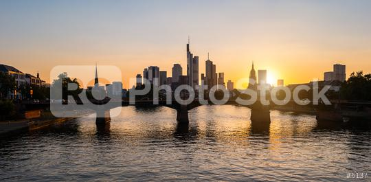 Frankfurt am Main Skyline at sunset silhouette  : Stock Photo or Stock Video Download rcfotostock photos, images and assets rcfotostock   RC-Photo-Stock.: