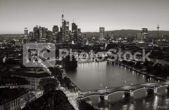 Frankfurt financial district skyline in black and white colors  : Stock Photo or Stock Video Download rcfotostock photos, images and assets rcfotostock   RC-Photo-Stock.: