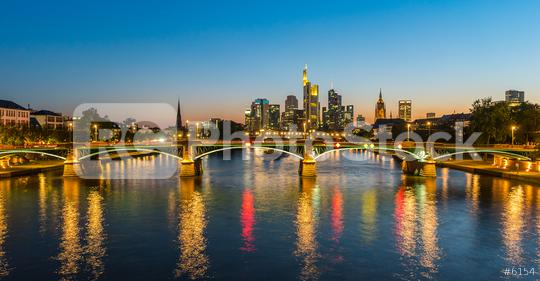 Frankfurt Skyline at sunset  : Stock Photo or Stock Video Download rcfotostock photos, images and assets rcfotostock | RC-Photo-Stock.: