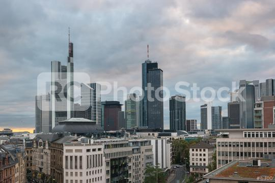 Frankfurt skyline view at a cloudy day  : Stock Photo or Stock Video Download rcfotostock photos, images and assets rcfotostock | RC-Photo-Stock.:
