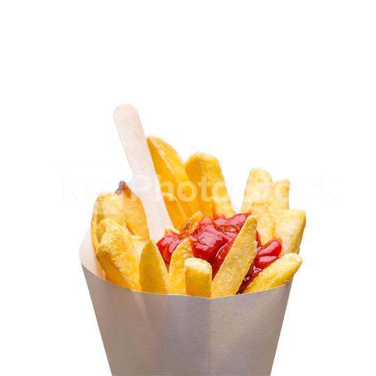 French fries with ketchup in a bag  : Stock Photo or Stock Video Download rcfotostock photos, images and assets rcfotostock   RC-Photo-Stock.: