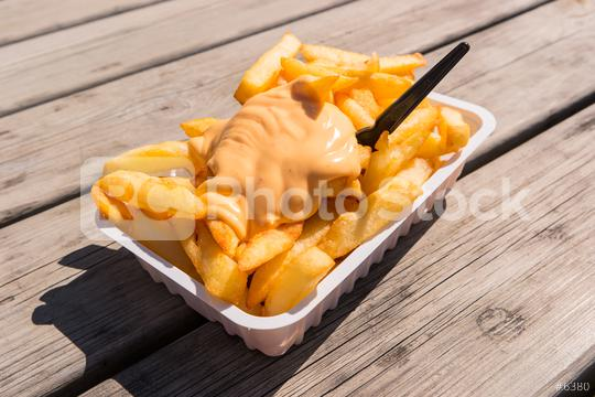 Fries with Sauce Andalouse  : Stock Photo or Stock Video Download rcfotostock photos, images and assets rcfotostock | RC-Photo-Stock.: