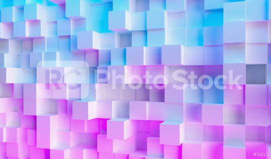 Futuristic Sci-Fi Modern cube background with Purple And Blue Glowing Neon light, Wallpaper background  : Stock Photo or Stock Video Download rcfotostock photos, images and assets rcfotostock | RC-Photo-Stock.: