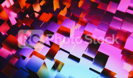 Gaming background of colorful neon light cubes in a Realistic style  : Stock Photo or Stock Video Download rcfotostock photos, images and assets rcfotostock   RC-Photo-Stock.: