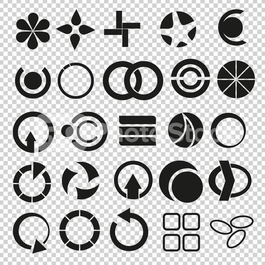 Geometric and popular, universal shapes vector set, collection on checked transparent background. Vector illustration. Eps 10 vector file.  : Stock Photo or Stock Video Download rcfotostock photos, images and assets rcfotostock | RC-Photo-Stock.:
